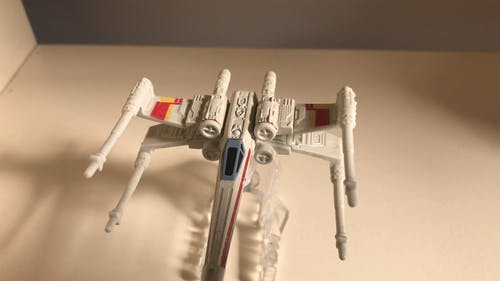 A Spaceship Model Toy Used In Star Wars Movie