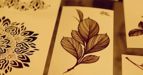 Close-up Footage Of Tattoo Designs Sample