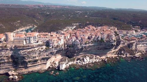 Aerial View Of Coastal Mountain Town
