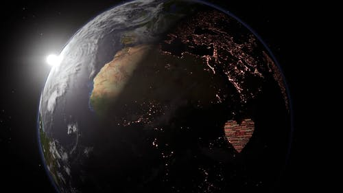 The Sun Illuminating Earth's Surface