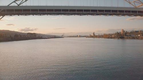 Drone Shot Flying Under the Bridge