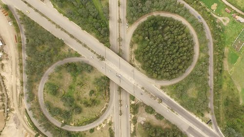 Drone Shot of the Cars in the Highway