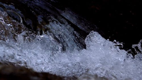 Close-up Footage Of The River Water