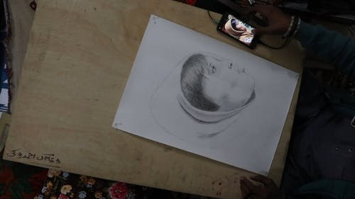Time-Lapse Video of a Person Drawing a Picture