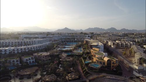 Drone Footage Of Hotels And Resort With Villas