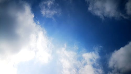 White Clouds Beneath The Blue Sky