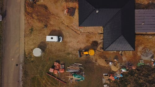 A Top View of a Construction Machinery Working