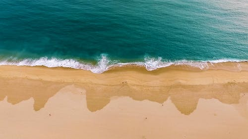 Drone Footage Of A Beach Blue Water