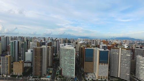 Drone Footage Of A Metropolitan City Skyline
