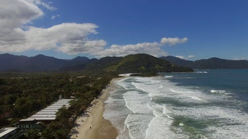 Aerial Video Over the Beach Area