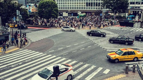 Time-Lapse Video of the Busy Famous Shibuya Crossing