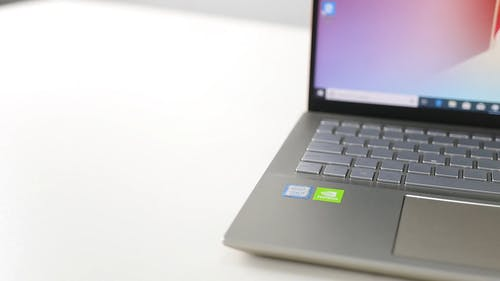 Close-up Footage Of A Personal Laptop