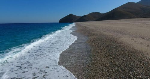 Drone Footage A Beach Shoreline