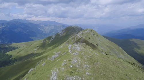 Drone Footage Of Mountains