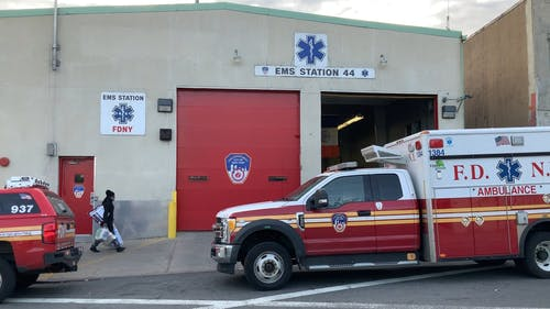 Emergency Vehicles In A Emergency Station