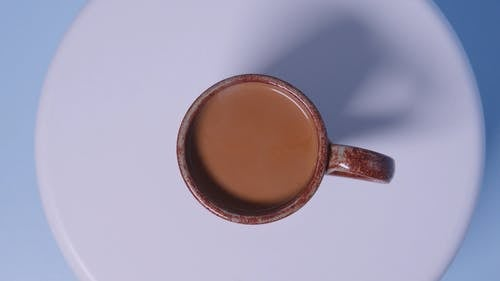 Rotating Shot Of A Cup Of Coffee