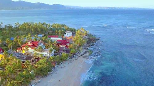 Drone Footage Of Coastal Area