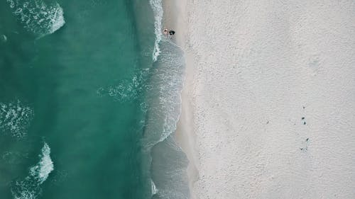 Aerial Footage Of The Beach