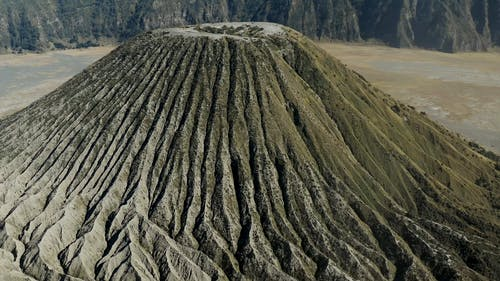 Drone Footage Of A Volcano