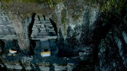 Drone Footage Of A Temple