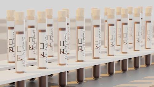 Test Tubes On Test Tube Racks