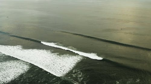 Drone Footage Of Big Waves In The Sea