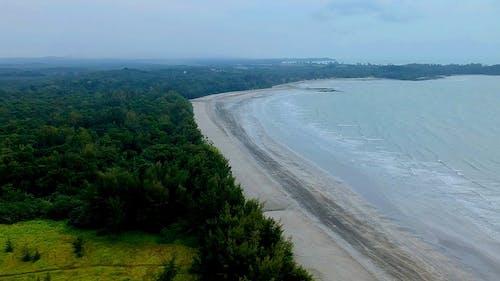 Drone Footage Of Shore
