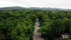 Drone Footage Of Town