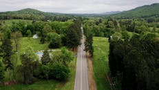Drone Footage Of Road