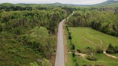 Drone Footage Of Road And Trees