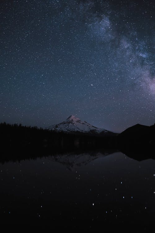 Time Lapse Of Sky Over Mountain