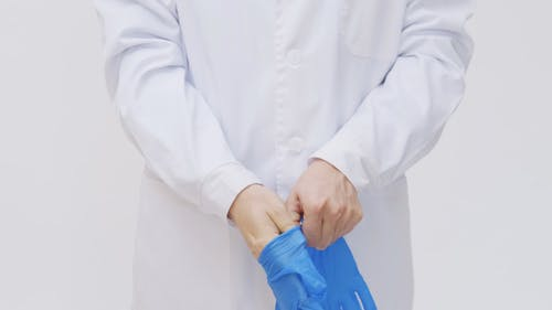 Video Of A Person Wearing Gloves