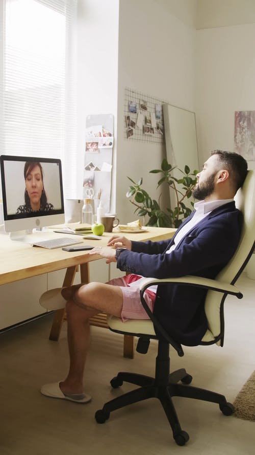 Man In A Video Meeting