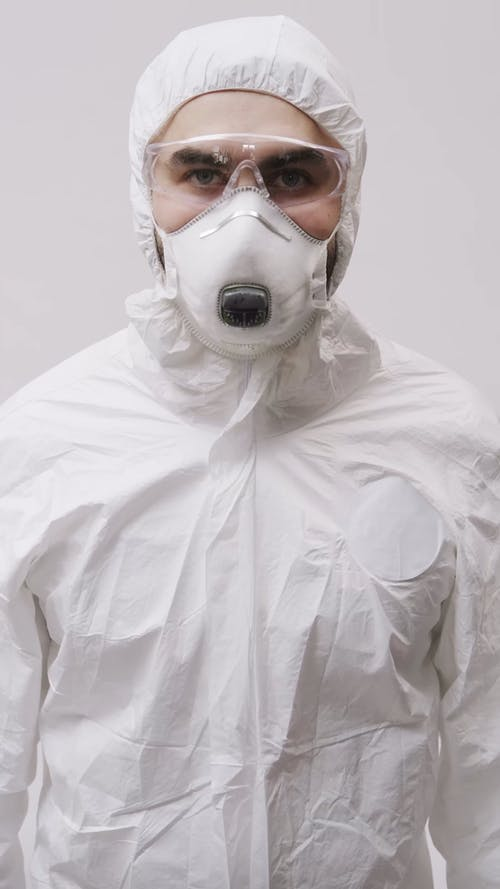 A Health Worker Wearing Personal Protective Equipment