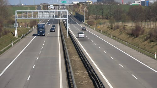 A Double Lane Highway For Road Travelers