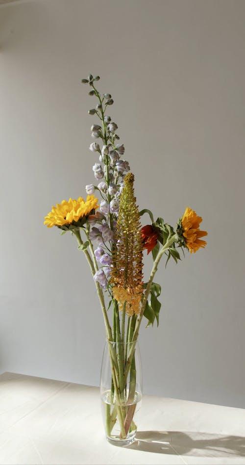 Fresh Flowers Arrangement On A Flower Vase