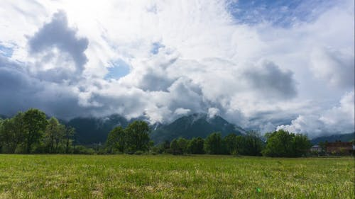 Time Lapse Of Clouds Over Mountain
