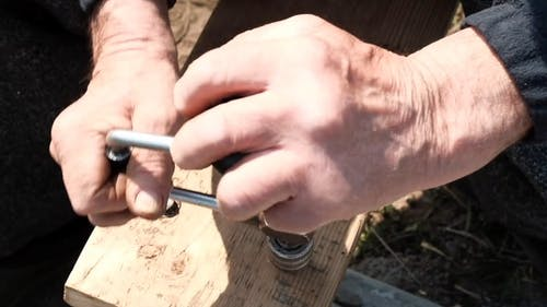 A Close-up Shot of Hand Drill