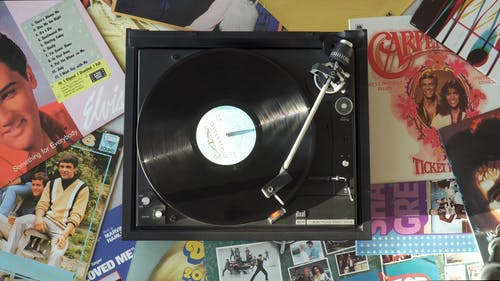 Playing Classic Vinyl Records On A Portable Turntable