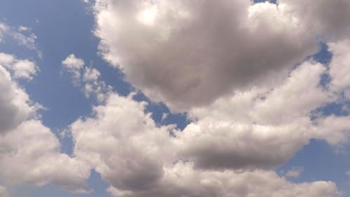 Time Lapse Video Of Clouds Formation In The Sky