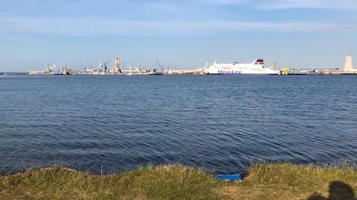 A Cruise Ship Docked At The Sea Harbor