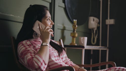 A Woman Talking On Her Cellphone