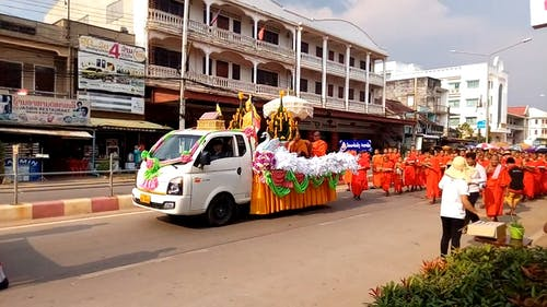 People Doing a Street Parade