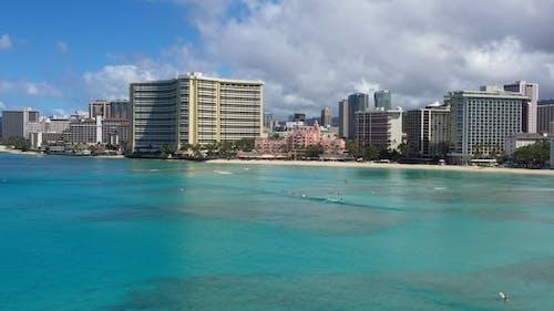 Drone Footage Of The Waikiki Beach In Hawaii
