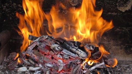 A Close Up Shot of Burning Coal