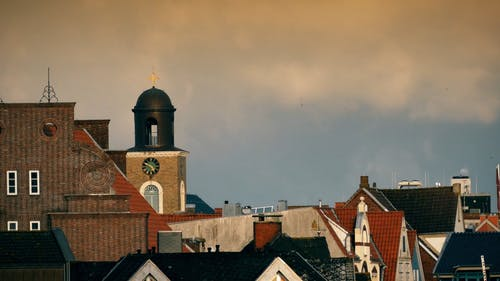 A Shot of Rooftops in a Town