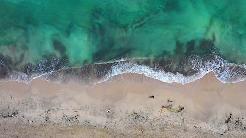 Drone Footage Of Seashore