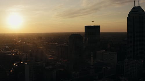 Drone Footage Of High Rise Buildings In The City