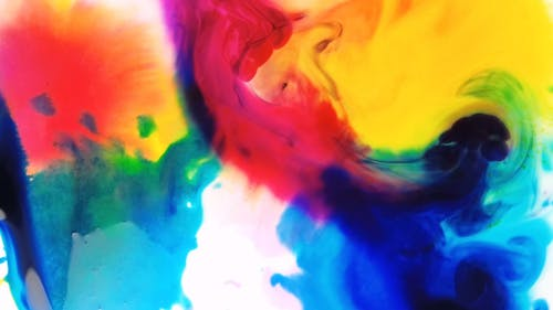 Abstract Painting Using Water Colors