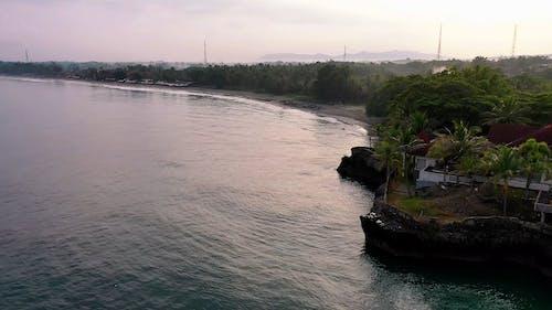 Drone Footage Of An Island Beach Resort